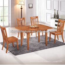 extension dining table in natural wood color XDW1287
