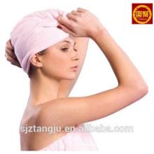 Cotton Terry Toweling Spa Toalla para el secado del cabello Toalla para el turbante