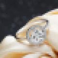Sterling Silver 925 Princesa Corte CZ Cubic Zirconia Halo Anel de Noivado