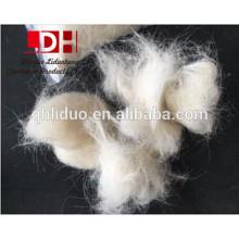 Cheveux de chèvre râpés super blanc 50-80 mm pour feutre et tapis