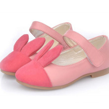 Spring children girls bunny fashion leather princess shoes made in china