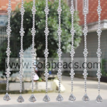Christmas Tree 22MM&14MM&8MM Wire Crystal Beading Garland Trim