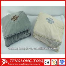 Venda quente popular 2 populares em um cobertor de travesseiro para a decoração do agregado familiar