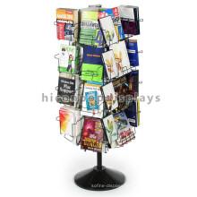 Nueva librería rotativa Metal de pie libre 4-Way 32 bolsillos portátiles Folleto Stands NZ