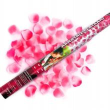 Canhão descartável dos confetes do casamento com a pétala cor-de-rosa artificial de seda cor-de-rosa para a surpresa da celebração