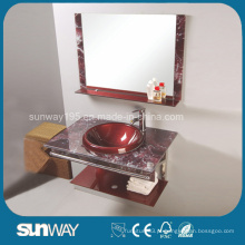 Bacia de vidro temperado de design moderno com espelho