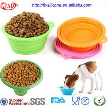 Tigelas portáteis de alimentos para animais de estimação por atacado de novidade em silicone