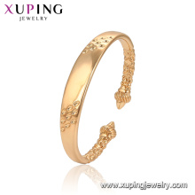 52135 Xuping Jewelry brazalete de moda de estilo clásico chapado en oro para mujer