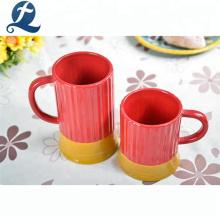 Custom drinking coffee milk tea handgrip color ceramic office cup
