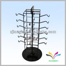 alambre de metal recubierto en polvo negro multiaspect 24 pegs eyeglasses holder shelf support