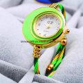 Небольшая новая мода кабель Браслет женщины Браслет часы