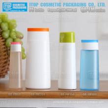 QB-FM série 60ml, 100ml, 150ml, 200ml mão creme protetor solar limpador facial toner oval do hdpe de garrafas plásticas