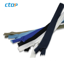 Wholesale decorative open end bags long chain nylon zippers for sale invisible nylon zippers for bags