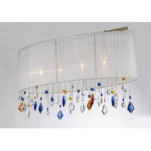 Modern Fabric Shade with Colorful Crystal Pendant Light (SD1164/4)