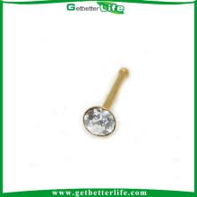 Stud de nez or Spoon Nose Piercing