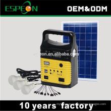 Sistema de energía solar de China 10w 9v con bulbos 3led
