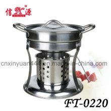 Panela quente aço inoxidável álcool fogão (FT-0220)