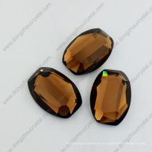 Coffee Mirror Glass Stones Loose Jewelry Stones for Wholesale