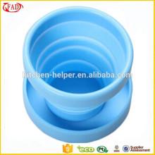 Fácil flexível copo de viagem de silicone prático