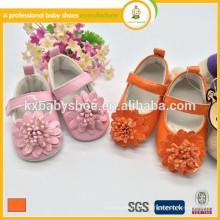 Ankunft Großhandel Beautuful Blume billig PU Leder Mädchen Kleid Schuhe