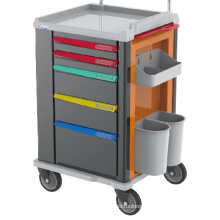 ABS plastic hospital furniture operating room emergency  trolley price