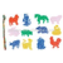 EN71 стандартные детские пластиковые нарезки строительные блоки игрушки