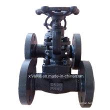 Válvula de globo forjada DIN da extremidade da flange do aço carbono A105 do RUÍDO Pn40