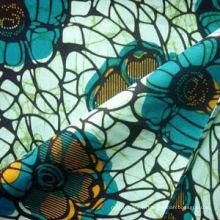 Vente chaude 100 fils de coton teints tissus africains de l'usine de porcelaine