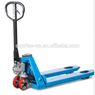 stainless steel count weight hand pallet truck jack for forklift with scale