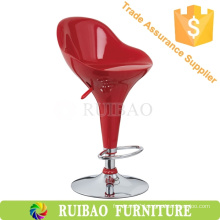 Clear Comfortable Swivel ABS Bar Stool With Footrest