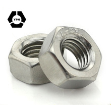 """ANSI/ASME B18.2.2/ISO4032 Hex Nut DIN934 Hexagon Nuts #6 - 3/4"""" Carbon/Stainless Steel Plain Black Zinc Plated HDG"""