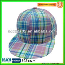 Tissu en tissu Flat Brim Snapback Caps SN-1196