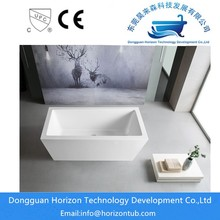 Rectangular stand alone bathtub