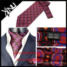 Laços de gravata de seda por atacado na impressão de tela Designs de moda Laço de gravata de Ascot