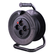 French 4 way extension cord reel customizable cable