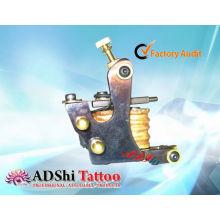 Heißer Verkauf ADShi 8 wickelt pro-heat gefeuerte handgemachte Tätowierung Maschinengewehre mit Messingnieten