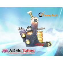 Hot selling ADShi 8 wraps pro-heat fired handmade tattoo machine guns with brass rivets