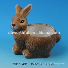 Lovely conejo diseñado macetas de cerámica