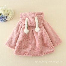 2016 Christmas pink coats furs adorable children coats animal patterns cute new year clothes kids halloween furry hot