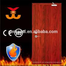 Puerta de madera clasificada contra el fuego del apartamento BS476