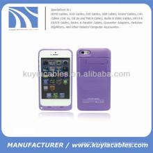 Externer Batterie-Energien-Fall für iPhone 5c 2200mAh Purpur