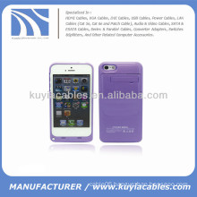 External Battery Power Case for iPhone 5c 2200mAh Purple