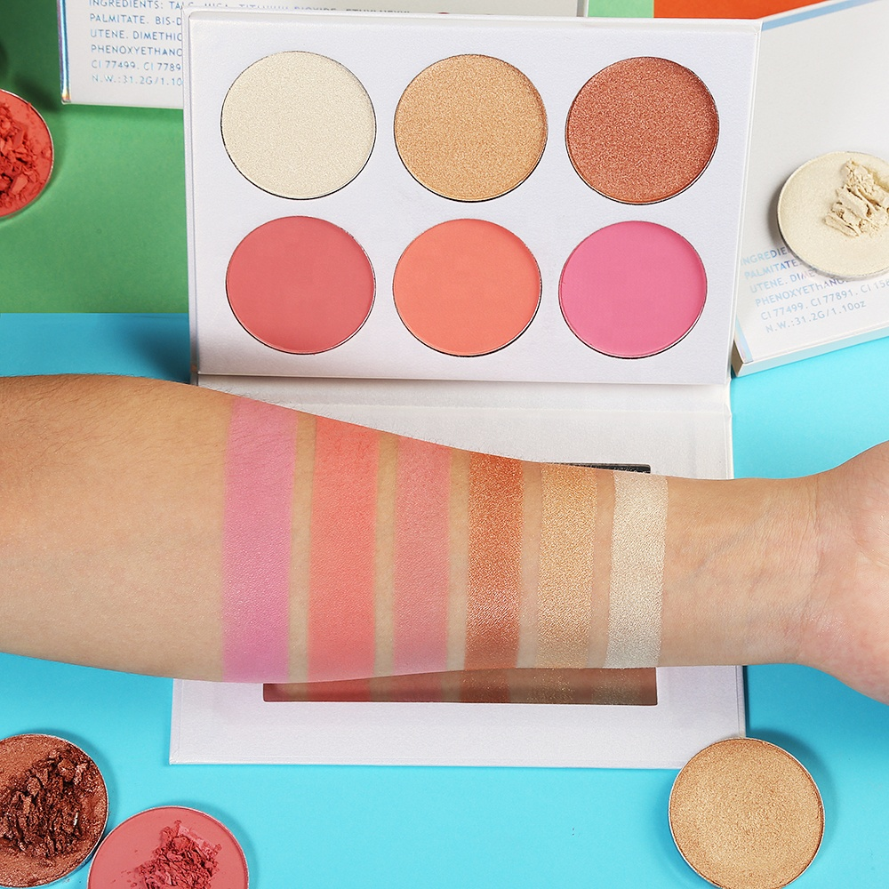 blush and highlighter with your logo