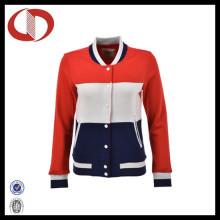 Hot Selling Custom Made Sports Wear jaqueta de beisebol para as Mulheres