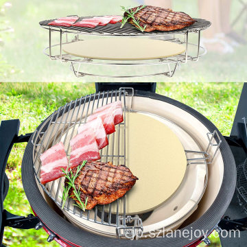 Multi-Tier Barbecue Cooking Grid, Stainless Steel Grill Grate for 15 Inch Kamado BBQ Grill and Other cooking grid