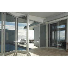 Thermo-kontrollierte Falt-Doppelglas-Aluminium-Türen