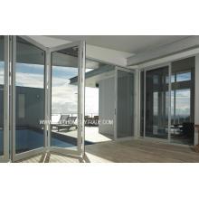 Терморегулируемые складывающиеся двойные стеклянные алюминиевые двери