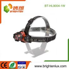 Fourniture d'usine Prix bon marché ABS Matériel en plastique 3 * AAA batterie actionnée 1watt led Coal Miners Headlamp