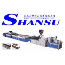 Máquina da extrusão da placa da porta do PVC / linha de madeira da extrusão