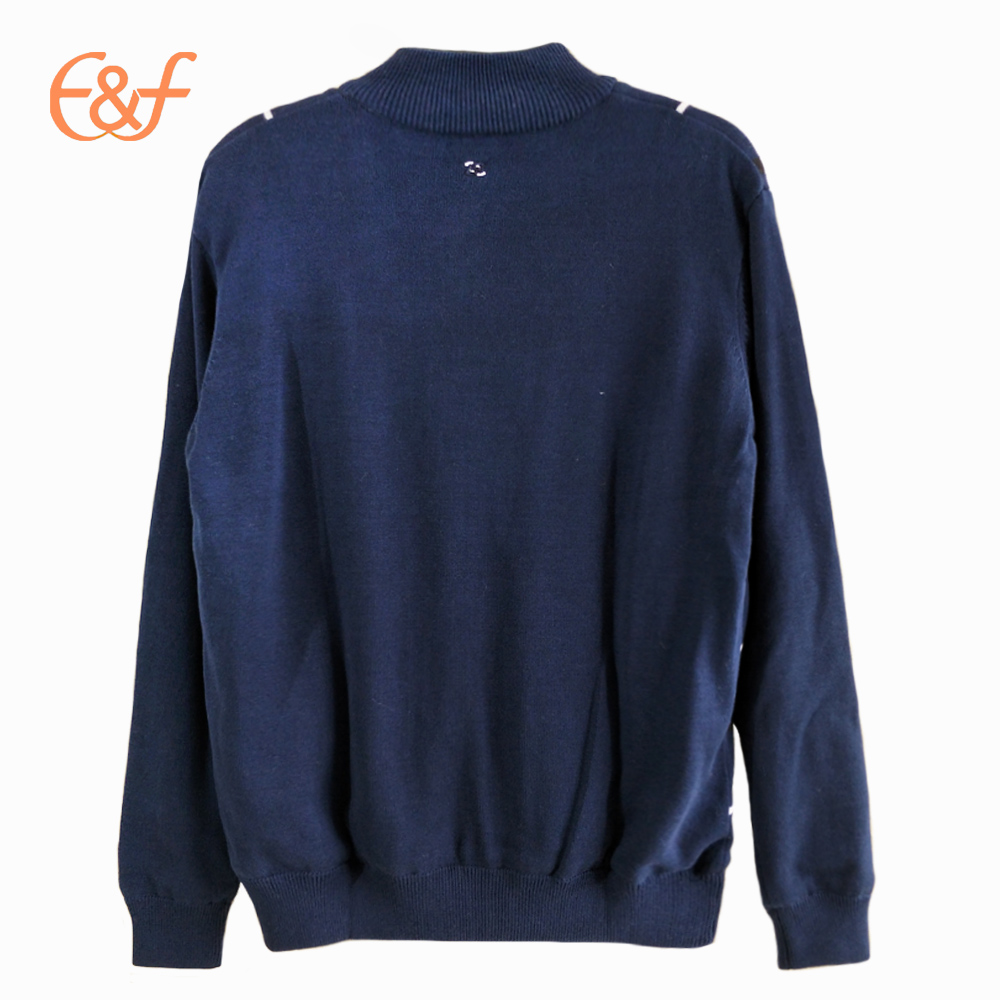 Men Double Layer Keep Warm Knitted Sweater back look